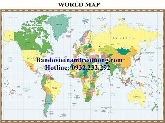 Bản đồ thế giới khổ lớn mẫu 17