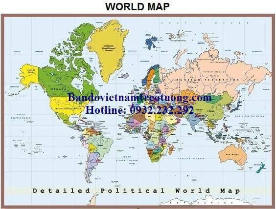 Bản đồ thế giới khổ lớn mẫu 18