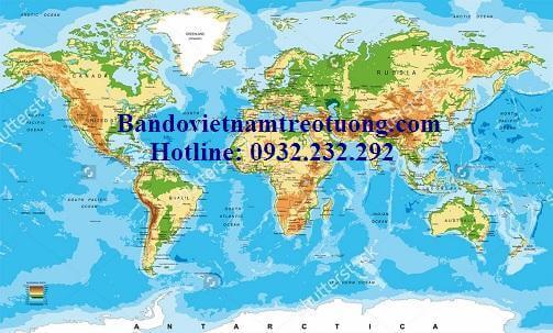 Bản đồ thế giới khổ lớn mẫu 19