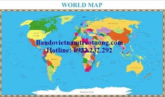 Bản đồ thế giới khổ lớn mẫu 29