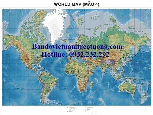 Bản đồ thế giới khổ lớn mẫu 4