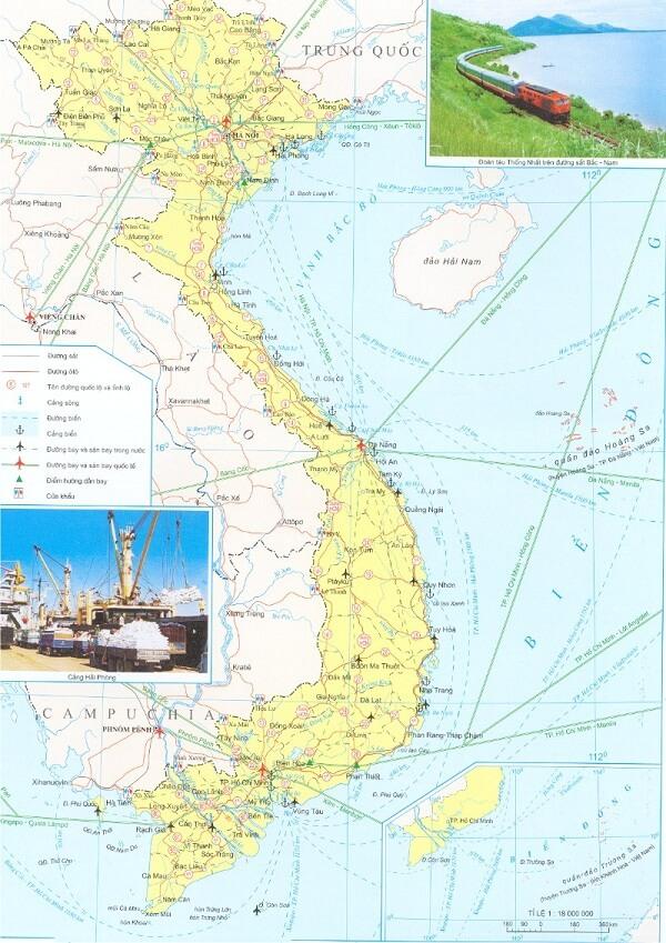 Bản Đồ Việt Nam Vùng Biển Kích Thước Lớn