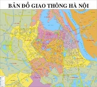 Bản đồ giao thông Hà Nội khổ lớn 3