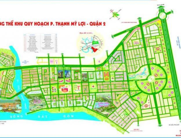 Bản đồ quy hoạch KDC Thạnh Mỹ Lợi