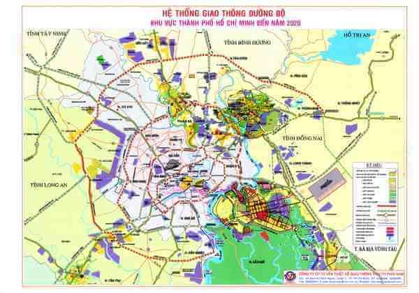 Bản đồ quy hoạch hệ thống giao thông đường bộ