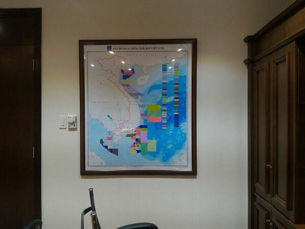 Bản đồ treo tường khổ lớn hoàn thiện