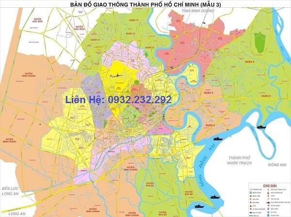 Bản đồ giao thông TpHCM khổ lớn 3