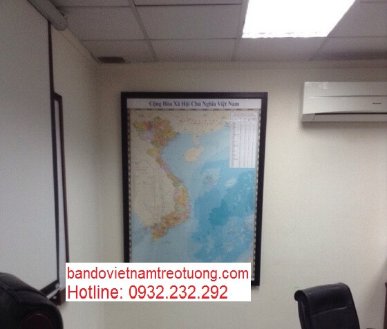 bán bản đồ Việt Nam Tiếng Anh cỡ lớn