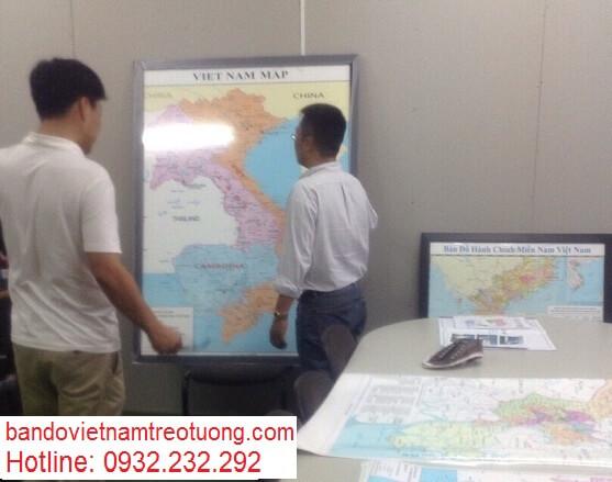 in bản đồ Việt Nam Tiếng Trung size lớn ở đâu