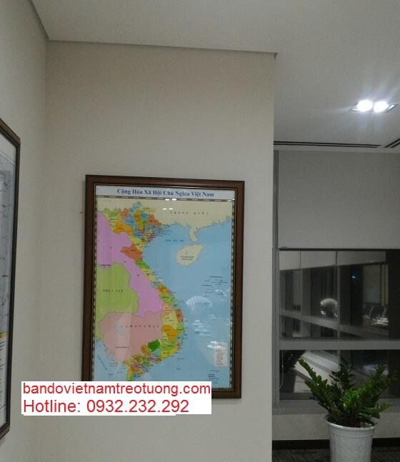 Bán bản đồ Việt Nam Tiếng Trung kích thước lớn