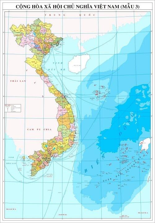 Mua bản đồ Việt Nam Tiếng Trung cỡ lớn ở đâu