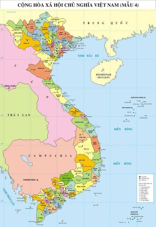 Bán bản đồ Việt Nam Tiếng Anh size lớn