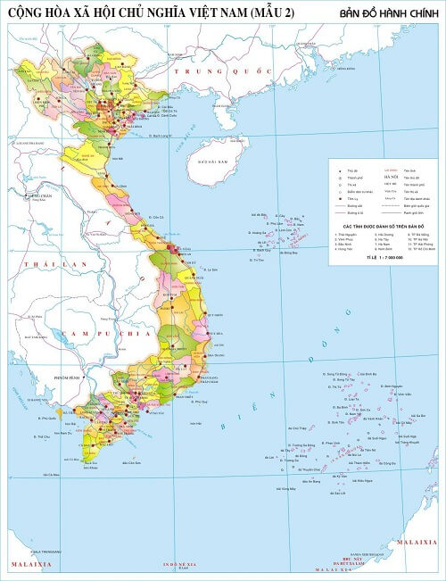 in bản đồ Việt Nam Tiếng Anh tại thành phố hcm