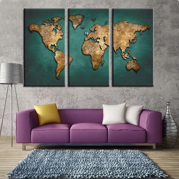 bản đồ thế giới khổ lớn
