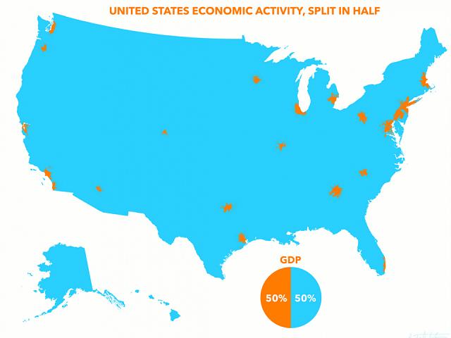 Bản đồ GDP của mỹ