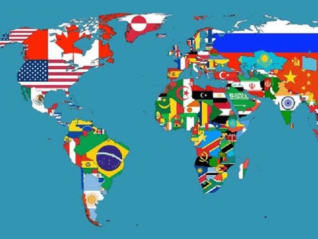 Bản đồ thế giới theo quốc kỳ