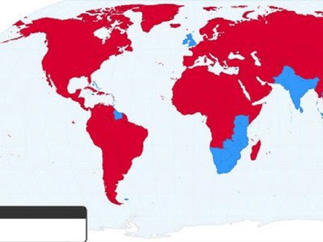 Bản đồ giao thông, lái xe các nước trên thế giới