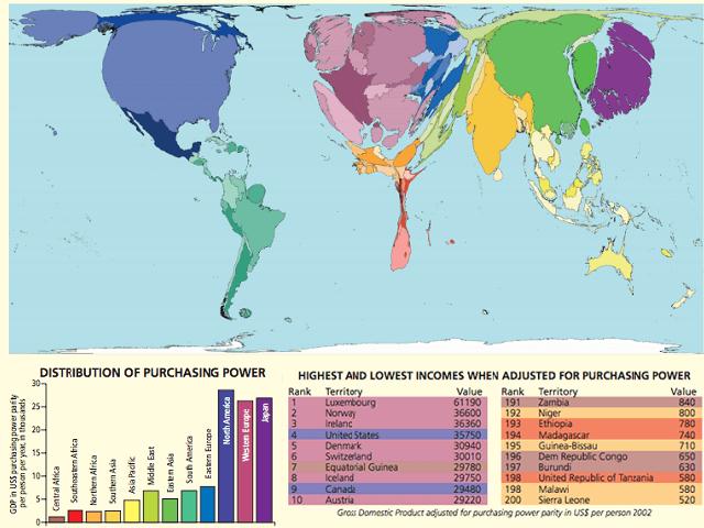 Bản đồ thế giới về sự giàu có