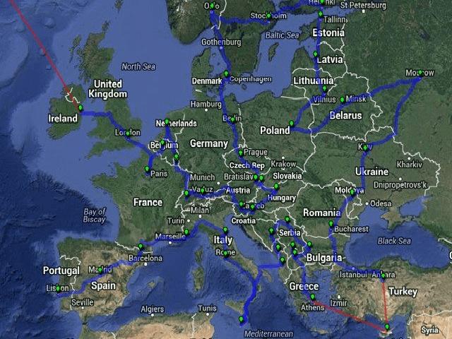Bản đồ đường đi
