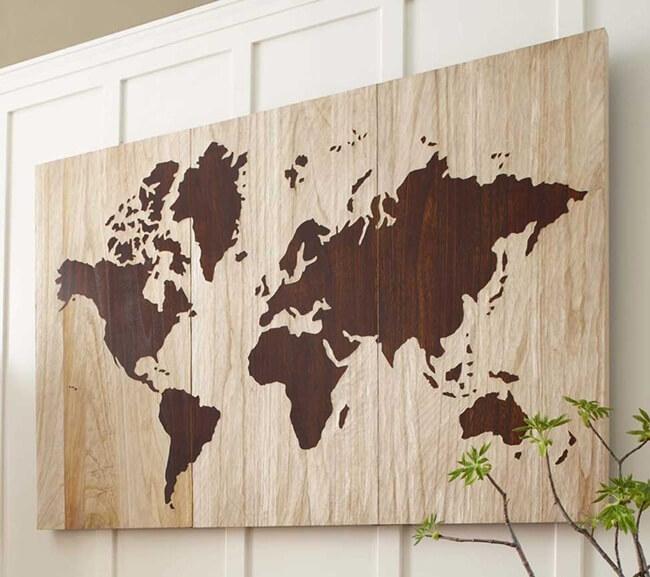 Trang trí bản đồ thế giới