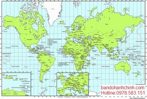 Bản đồ thế giới uy tín