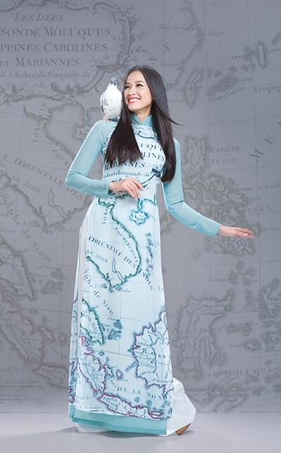 Áo dài đẹp lấp lánh