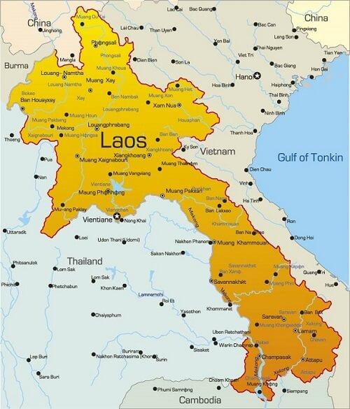 Bản đồ nước Lào