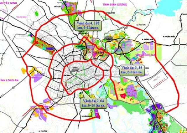Bản đồ quy hoạch giao thông TP HCM