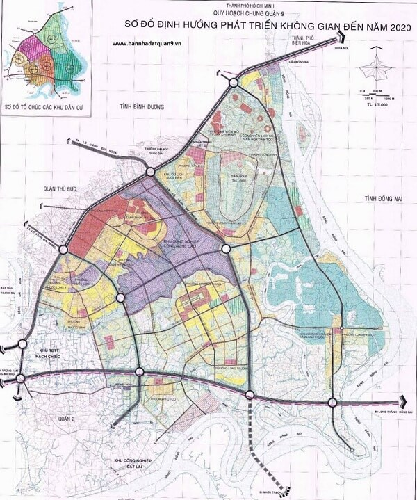 Bản đồ quy hoạch quận 9 TPHCM có gì khác biệt