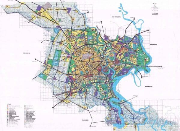 Bản đồ quy hoạch tphcm đến năm 2025