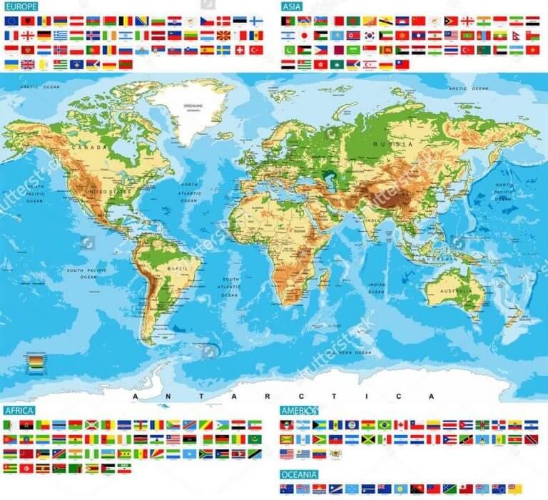 Bản đồ thế giới cỡ lớn