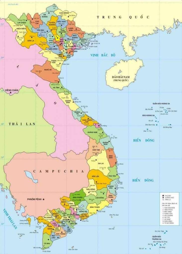 bản đồ Việt Nam mới nhất
