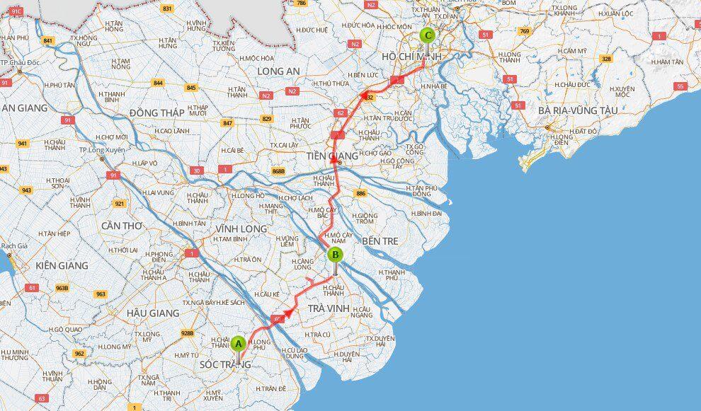 Khám phá chuyến đi bằng bản đồ du lịch miền tây