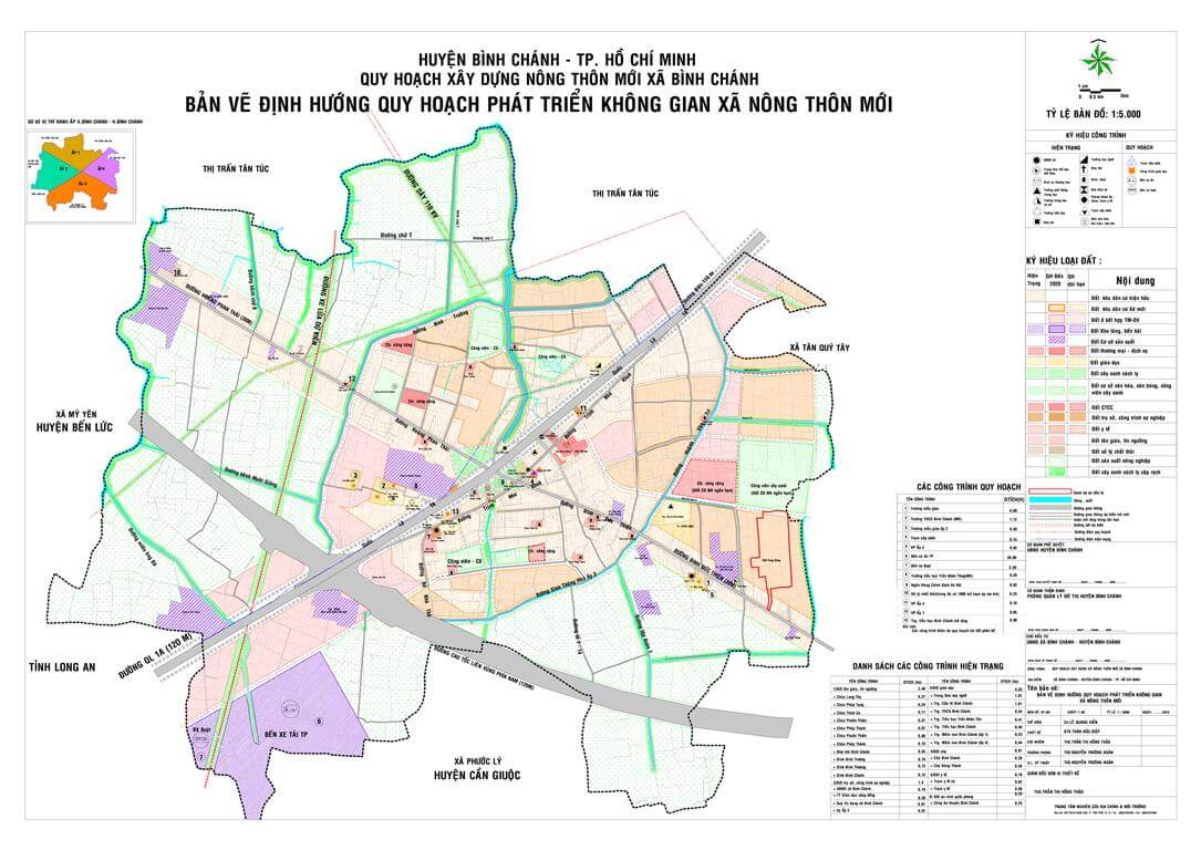 Tham khảo bản đồ quy hoạch huyện Bình Chánh