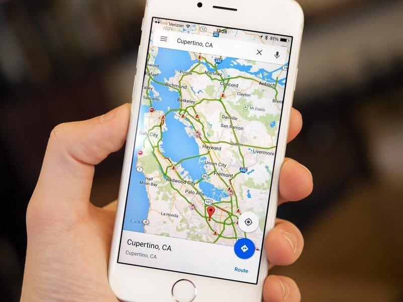 Các cách xem bản đồ trên điện thoại