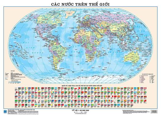 bản đồ thế giới hình cầu
