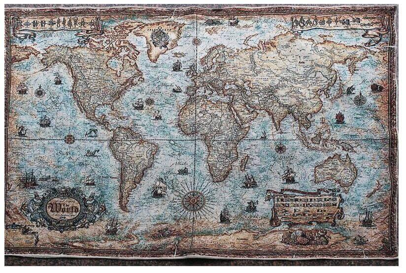 bản đồ thế giới hình cũ