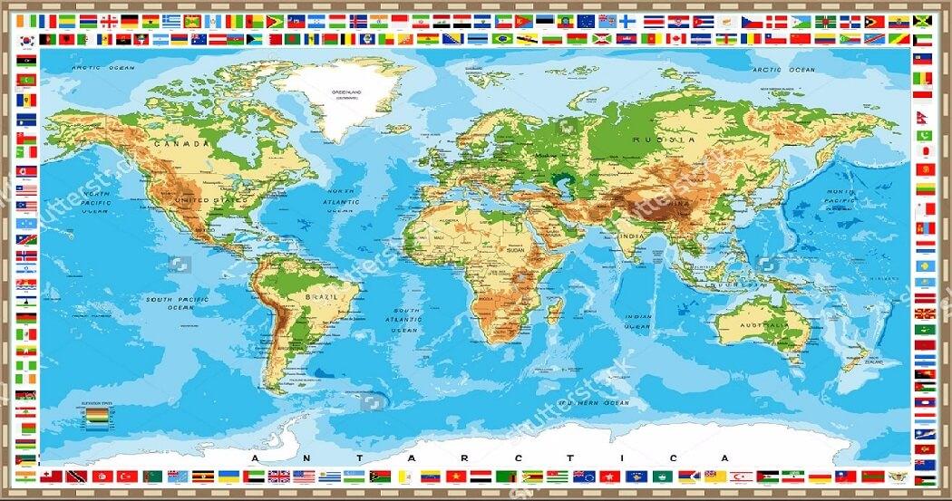 Địa chỉ mua bản đồ thế giới ở hà nội uy tín