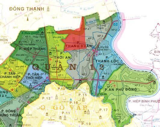 Bản đồ quy hoạch phường Thạnh Xuân quận 12