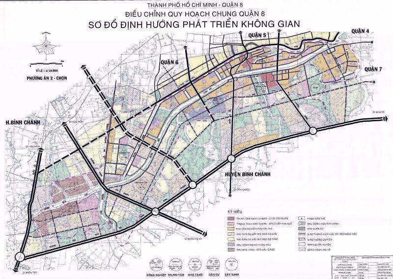 bản đồ hoạch quận 8