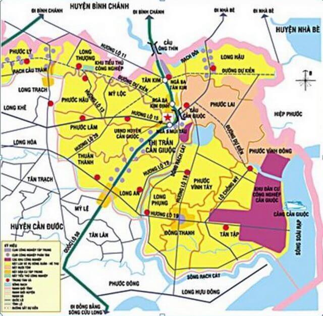 Bản đồ quy hoạch huyện Cần Giuộc