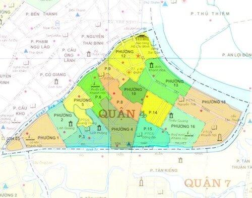 Sơ lược về bản đồ quy hoạch quận 4 đến năm 2020