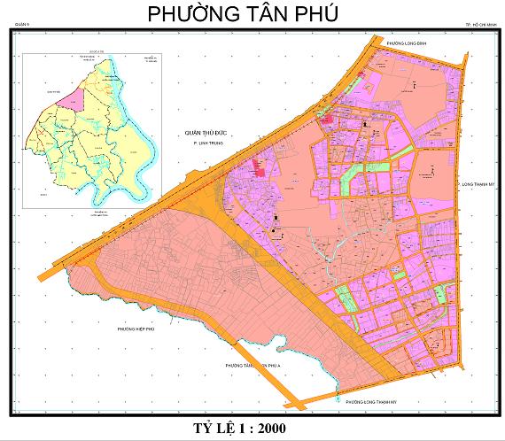 Bản đồ quy hoạch quận Tân Phú đến năm 2020
