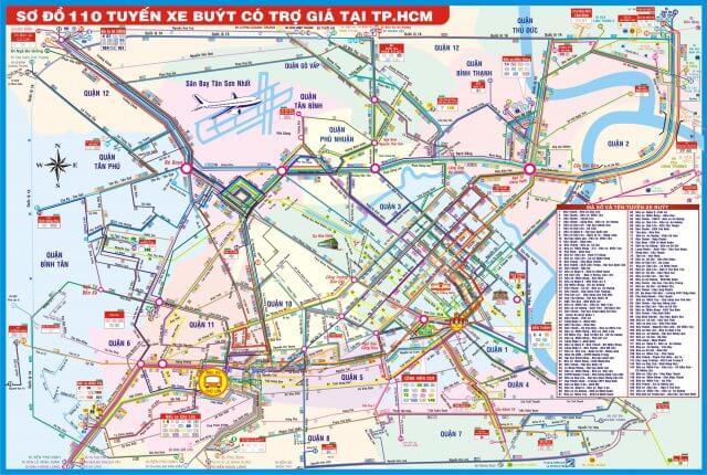 Bản đồ xe buýt tphcm (phần 1) từ tuyến số 1 – 59