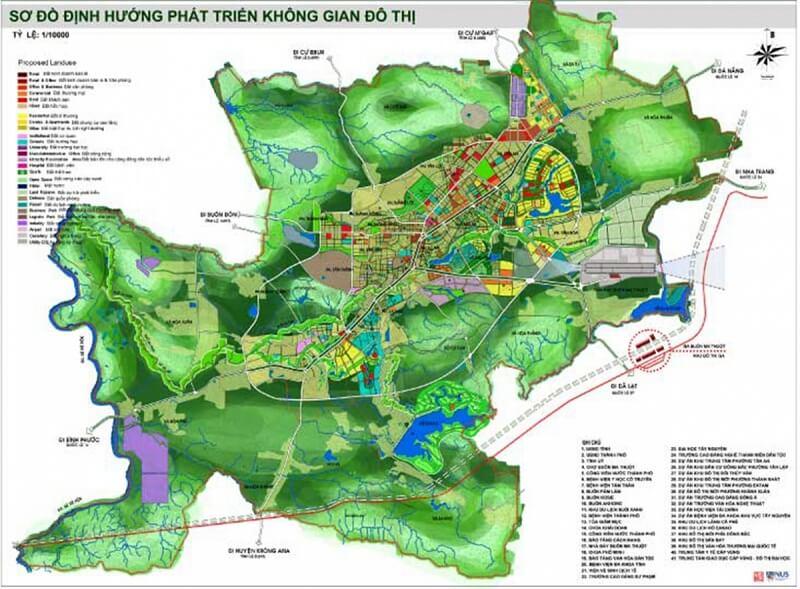 Bản đồ quy hoạch thành phố Buôn Ma Thuột đến năm 2025