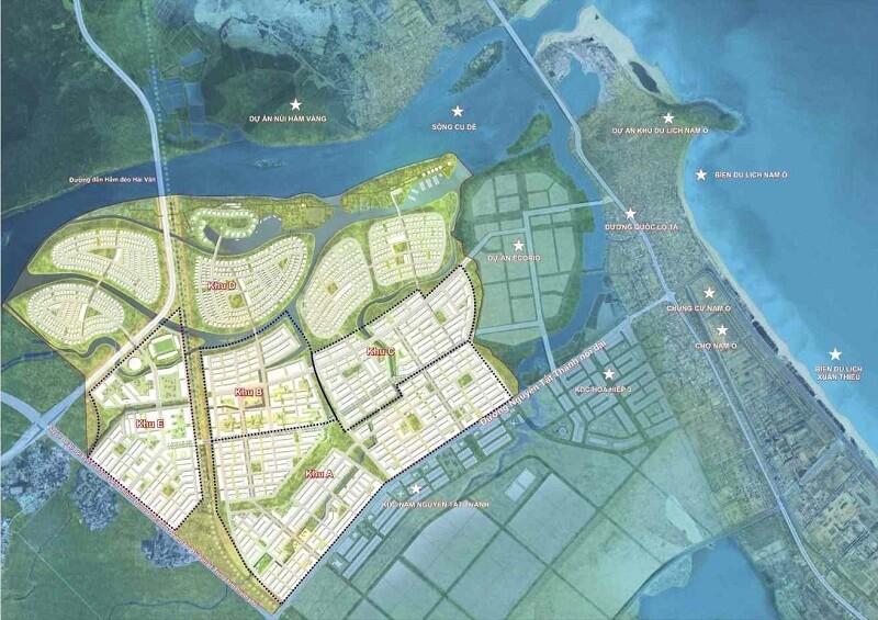 Bản đồ Dự án Golden Hill Đà Nẵng