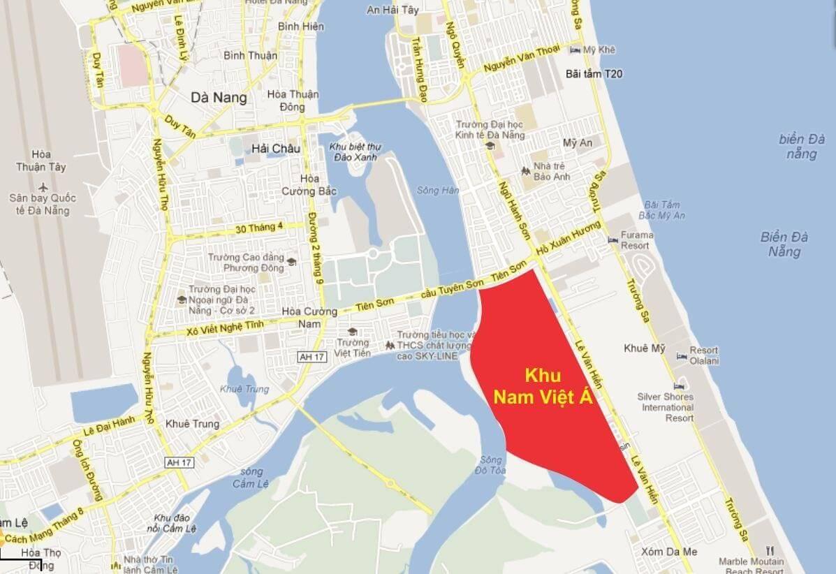 Bản đồ Dự án Nam Việt Á Đà Nẵng