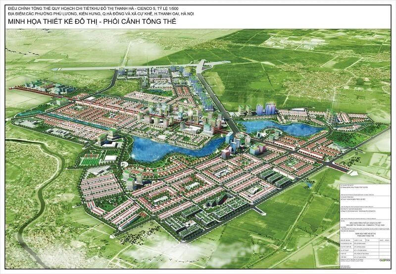 Bản đồ dự án Thanh Hà Cienco 5