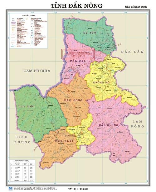 Bản đồ hành chính ĐăkNông