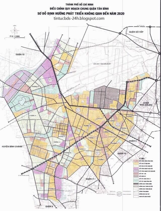 Bản đồ quy hoạch quận Bình Tân TPHCM đến năm 2020